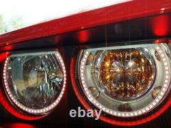Phares Retrofit Led Rgb Angel Eye Halo Anneaux 2008-2014 Dodge Challenger