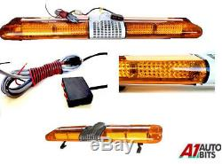 Récupération Led Light Bar 1200mm 12v Gyrophare Camion Léger Strobes Ambre 47