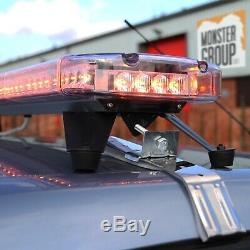 Récupération Orange Clignotant Led Barre D'avertissement Magnétique Beacon Voiture Van Strobe Lig
