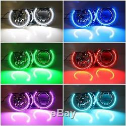Rgbw Couleur Led Angel Eyes Halo Anneaux Pour Bmw E46 3series, 07-14 Silverado Sierra