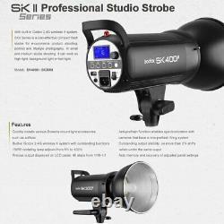 Royaume-uni Godox Sk400ii 400w 2.4g Flash Strobe Light With 95cm Bowen Mount Softbox Kit