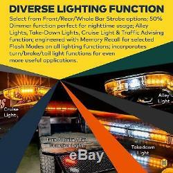 Solarblast Sbfb82 56 114w Ambre Led Clignotant Strobe Pleine Taille Light Bar