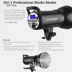 Uk 1200w 3x Godox Sk400ii 400ws Flash Studio Strobe Light Head F Nikon Mariage