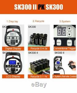Uk 3 Godox Sk300ii 300ws 2.4g Sans Fil X Système Flash Light Strobe Kit Mariage