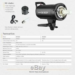 Uk 3x Godox Sk400ii 400w Flash Studio Strobe Light Head + Trigger + Softbox