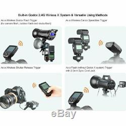 Uk 3x Godox Sk400ii 400w X 2.4g Flash Studio Strobe Light Head + Xpro-c