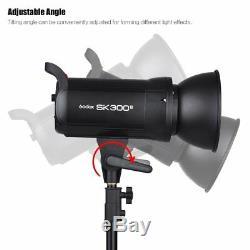 Uk 900w 3x Godox Sk300ii Studio Strobe Flash Light Head + Trigger + Softbox F Photo