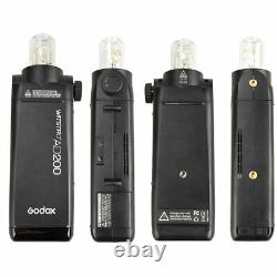 Uk Godox 2.4 Ttl Hss Deux Têtes Ad200 Flash Light+ad-s2+ad-s11+ad-s15+ad-s17 Kit