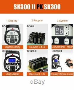 Uk Godox 2 Sk300ii 300ws Gn58 Stroboscope Speedlite Light + 2m Stand Kit Lumière