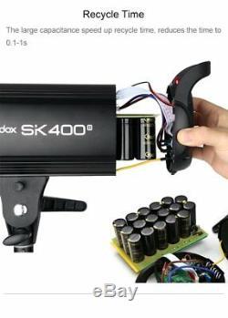 Uk Godox 2x Studio De Sk400ii Strobe Flash Light Kit F Shooting Photo De Mariage