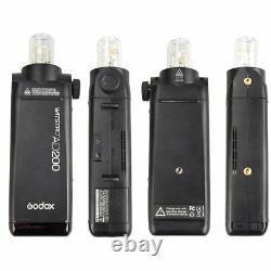 Uk Godox Ad200 2.4g Hss Ttl 1/8000s Double Head Pocket Flash Speedlite + Cadeau