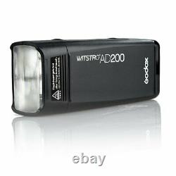 Uk Godox Ad200 Ttl Hss 2.4g 1/8000 Wireless Double Head Flash+reflex Gratuit