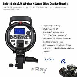 Uk Godox Sk300ii 300w 2.4g Flash Studio Strobe Light Head + Xpro-n Ttl Trigger