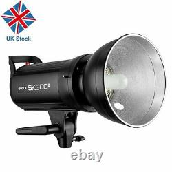 Uk Godox Sk300ii 300w 300ws 2.4g Système X Studio Lampe Flash Stroboscopique Head