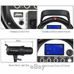 Uk Godox Sk300ii 300w Photo 2.4gstudio Flash Stroboscopique Head + Xpro-c Trigger