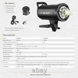 Uk Godox Sk300ii 300ws Studio Flash Stroboscopique Lampe Frontale F Photographie De Mariage