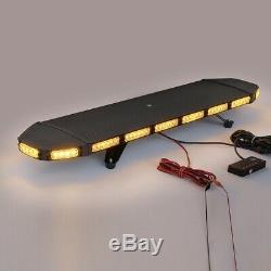 Urgence Clignotant Lampe Beacon Bar 96 Led Ambre Car Light Strobe Avertissement Ip65