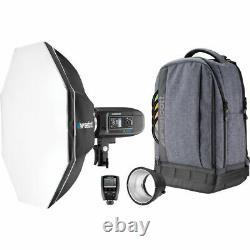 Westcott Fj400 Strobe 1-light Backpack Kit Avec Universal Trigger Et Octa-s
