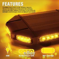 Xprite 18 Lampe De Travail Led Strip Pour Jeep Dépanneuse Sur Le Toit Strobe Light Amber Bar