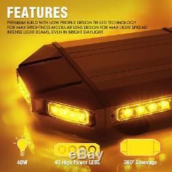 Xprite 18 Led Black Hawk Application De La Loi Sur Le Toit Du Véhicule Strobe Light Amber Bar
