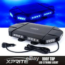 Xprite 18 Profil Bas Sur Le Toit D'urgence Mont Patrol Car Strobe Light Blue Bar