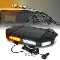 Xprite 18inch Car Rooftop 40 Led Strobe Light Bar Avertissement D'urgence Ambre Blanc