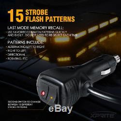 Xprite 27 Led Ambre Strobe Light Bar De Haute Intensité Sur Le Toit Avertissement D'urgence