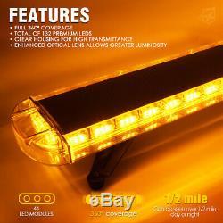 Xprite Bar Led Lumière Stroboscopique 48 Pouces Traffic Advisor 360 Couverture Flash Lights