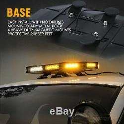Xprite Black Hawk 18 Led Blanche Ambre Application De La Loi Rooftop Strobe Light Bar